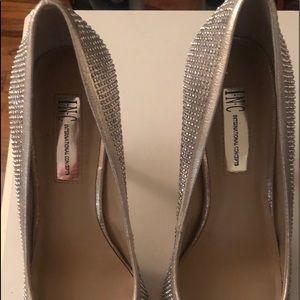 INC International Concepts Silver Rhinestone Heels